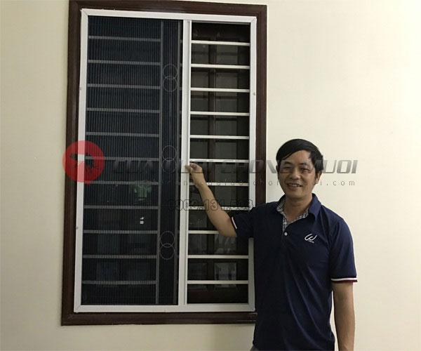 Cửa lưới chống muỗi không ray 03