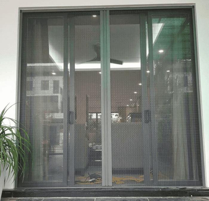 Cửa lưới chống muỗi xếp tiện nghi với mẫu mã sang trọng